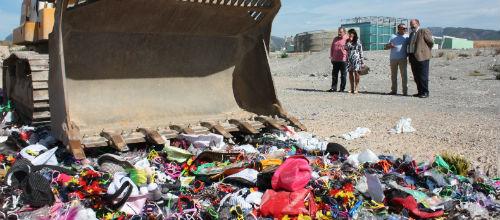 Destruyen 300.000 objetos que procedían de la venta ambulante ilegal
