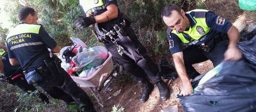 La Policía Local halla un solar nodriza en la Platja de Palma