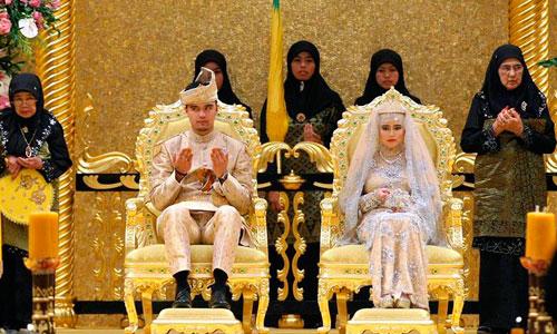 Derroche en la boda de la hija del Sultán de Brunéi