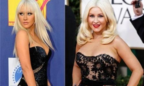 Christina Aguilera gana mucho peso