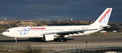 Accidente de un avión de Air Europa en Barajas