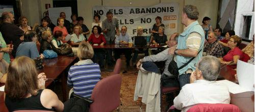 Los jubilados del Ib-Salut siguen encerrados y reclaman una reunión con el nuevo conseller