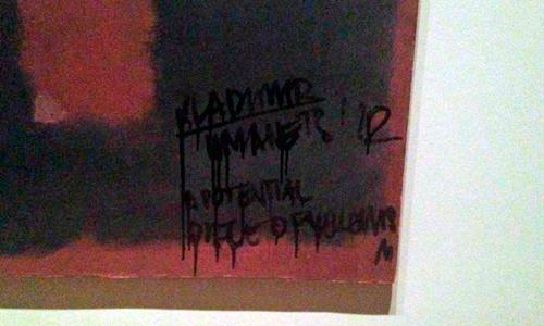 Un visitante destroza una obra de Rothko