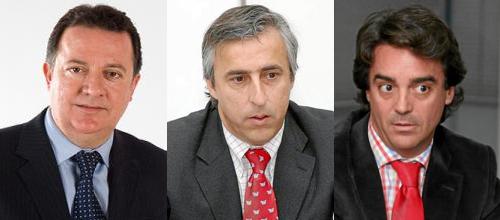 Imputados Torres, Juaneda y Rodrigo de Santos
