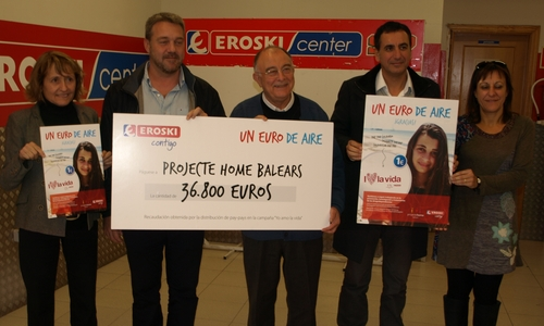 Projecte Home recibe 36.800 euros de Eroski