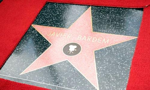 Bardem ya tiene estrella en Hollywood