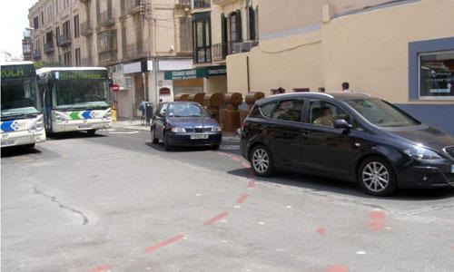 Peligro para las bicis en la Porta Sant Antoni