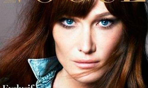 Carla Bruni vuelve a las portadas de moda