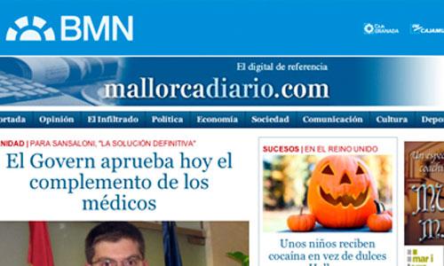 mallorcadiario.com aumenta sus visitas un 16,7% en octubre