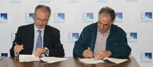 Endesa firma un convenio con la asociación patronal ABERAN