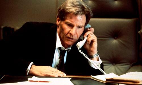 Harrison Ford es el presidente de ficción preferido
