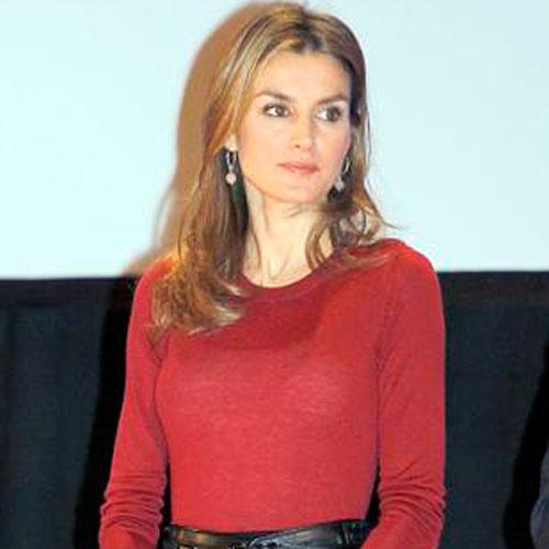 El jersey más indiscreto de la princesa Letizia