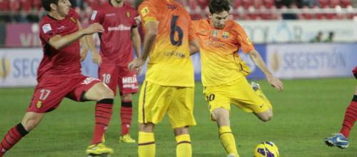 El Mallorca cae 2-4 frente al Barcelona en Son Moix