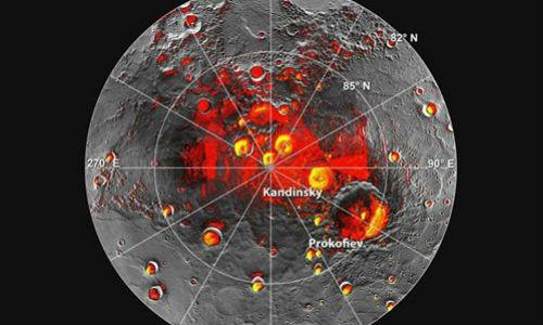 Mercurio contiene hielo y materiales orgánicos