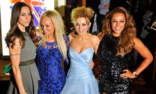 Victoria Beckham, avergonzada junto a las Spice Girls