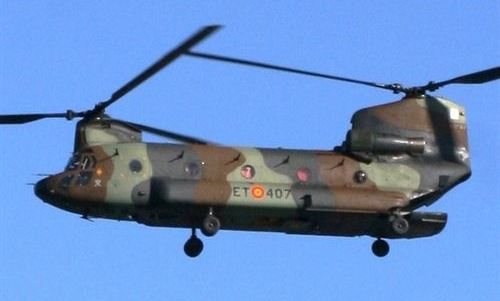 El Ejército presta su mayor helicóptero para 'rescatar' a un dinosaurio