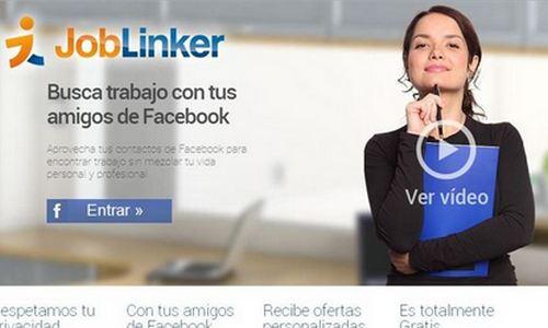 Joblinker permite buscar trabajo con la ayuda de los amigos de Facebook