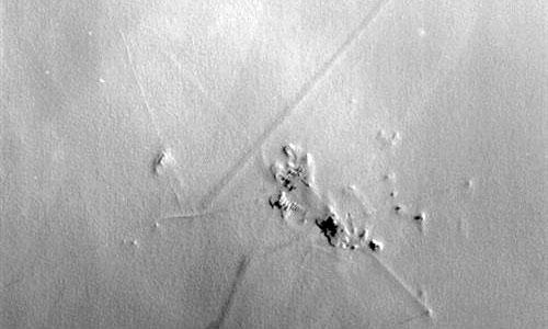 La base Concordia del Polo Sur, fotografiada desde el espacio