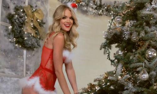 Las modelos de lencería celebran la Navidad