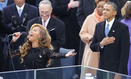 Beyoncé cantó en 'playback' en la investidura de Obama