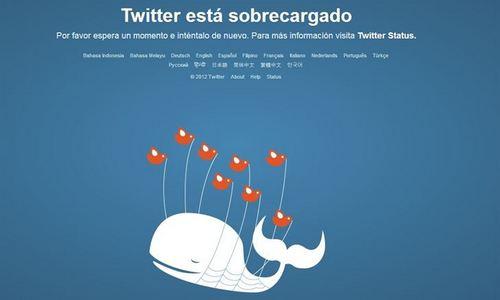 Fallo general de Twitter por sobrecarga