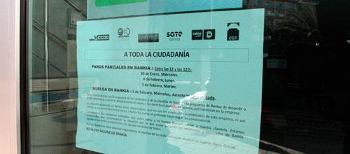 Paro parcial de Bankia en Baleares