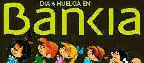 Paros parciales de protesta en Bankia