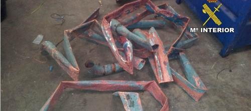 Un detenido por robar canaletas de cobre por valor de 6.000 euros