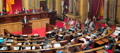 El Parlament catalán aprueba la declaración soberanista