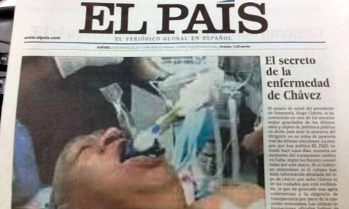 El País paraliza su edición impresa por una foto falsa de Chávez