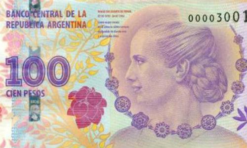 Los billetes con la cara de Evita se venden en Nueva York