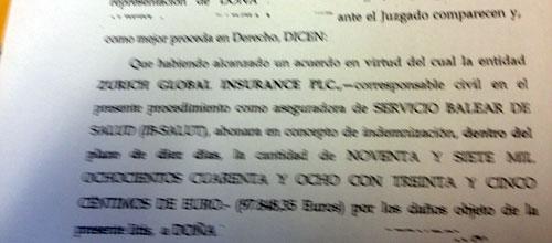 Ib-Salut indemniza con 98.000 euros por la muerte de un recién nacido