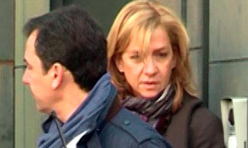Primeras imágenes de la Infanta tras la imputación de García Revenga