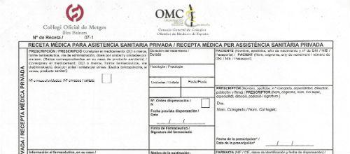 La receta médica privada se implantará el próximo miércoles 23 de enero