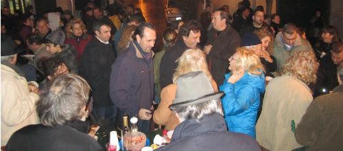 Las autoridades no se perdieron la torrada de Sant Sebastià