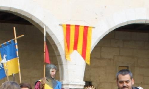 La 'tribarrada' en la Diada Medieval