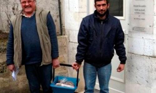 Un francés paga a Hacienda con 50 kilos de céntimos