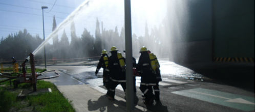 Endesa organiza un simulacro de incendio en la central de Alcúdia
