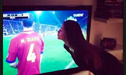 Malena Costa celebra el debut como internacional de su novio