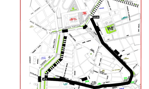 Cierre de calles en Palma por Sa Rua