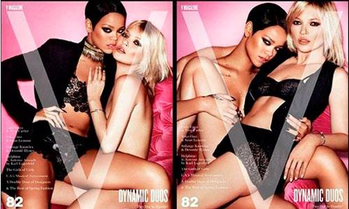 Rihanna y Kate Moss, muy provocativas