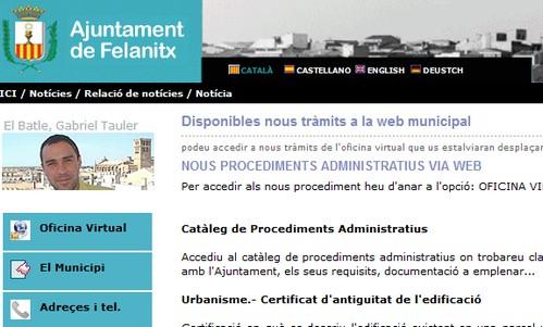El Ajuntament de Felanitx incorpora nuevos tr�mites v�a telem�tica