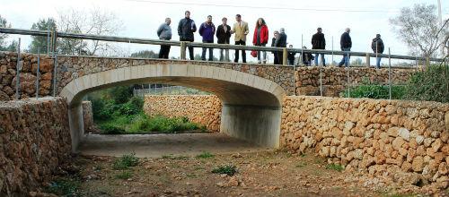 Abaqua finaliza la construcción de un puente en Sencelles