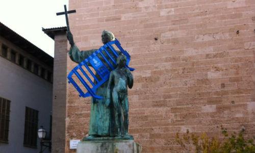 Gamberrismo en la plaza de Sant Francesc