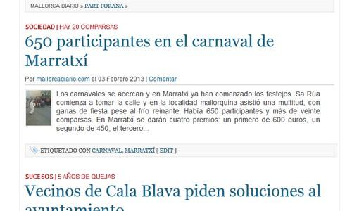 Mallorcadiario.com estrena la sección de Part Forana