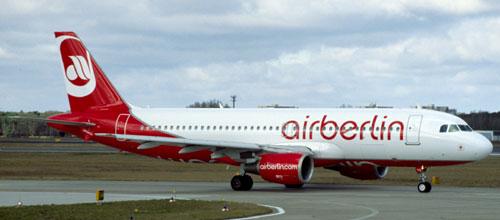 Air Berlin transporta un 11,9% menos de pasajeros en un año