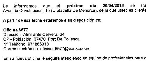 Bankia antenderá a los menorquines en Pollença