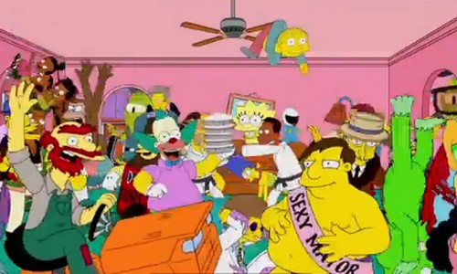 Los Simpson se apuntan a la moda del Harlem Shake