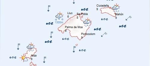 Alerta en Mallorca por fuertes vientos