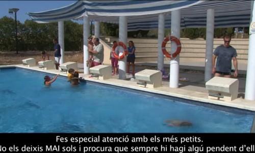 El Govern difunde un vídeo con consejos para la piscina